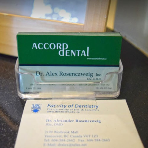 accord dental business card